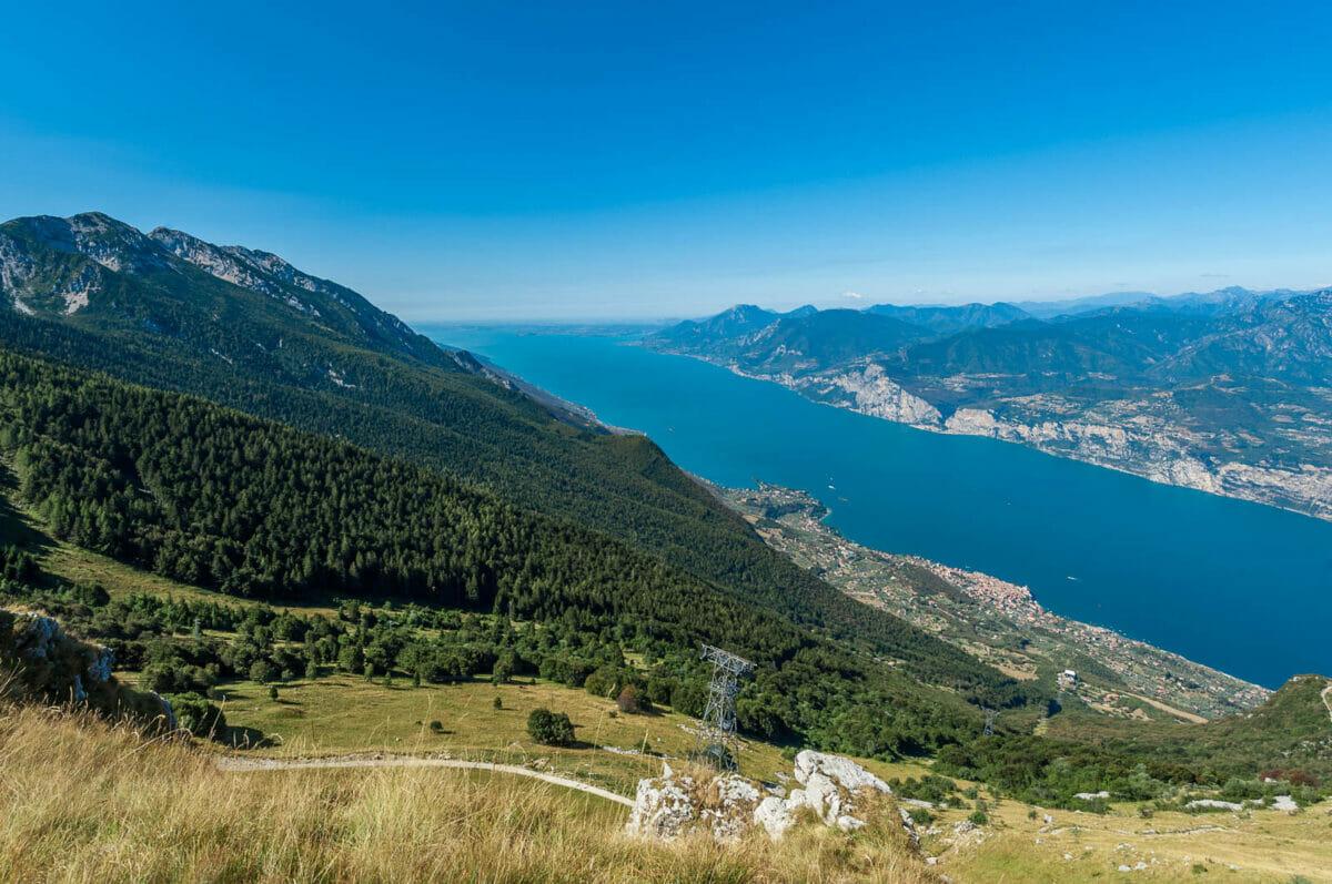 panoramic view over lake garda