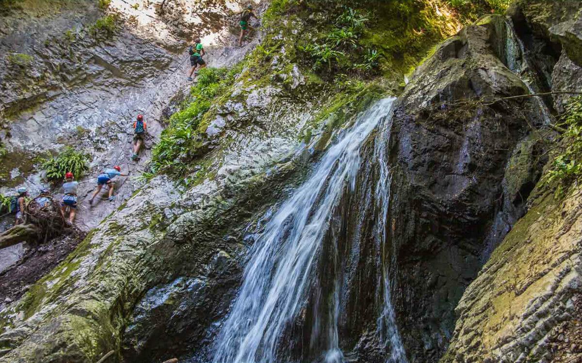 klettersteig rio sallagoni wasserfall