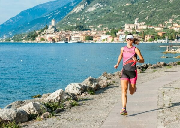 Running in malcesine close to the beach