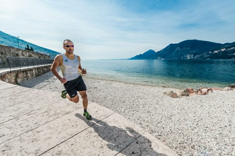 Running cycle path and beaches in brenzone