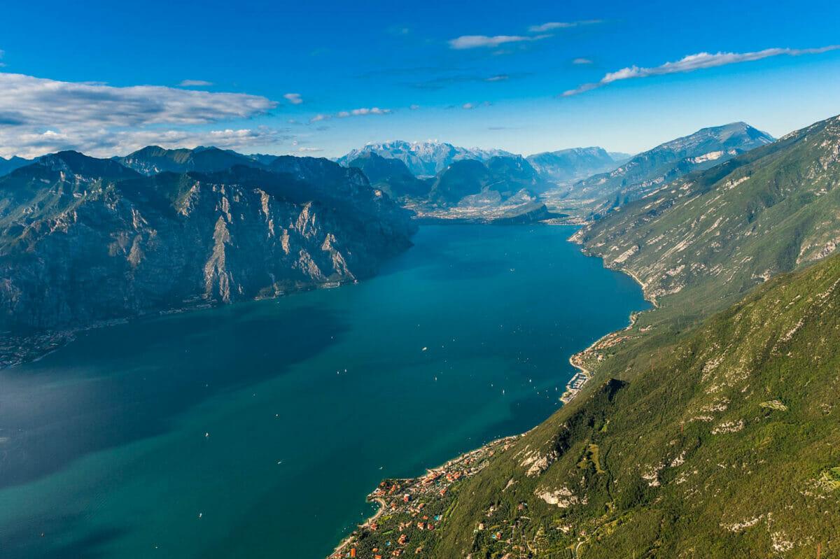 lake garda from paraglide