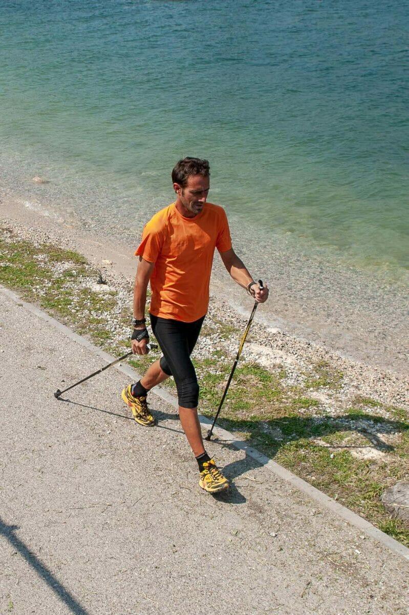 nordic walking sul lago