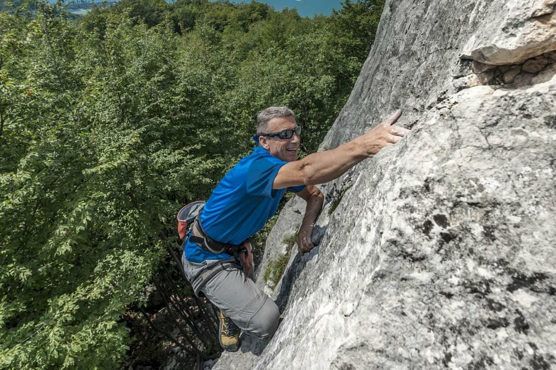 climber with glasses in cassone maroc