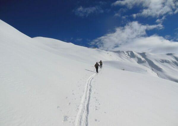 scialpinisti sul telegrafo