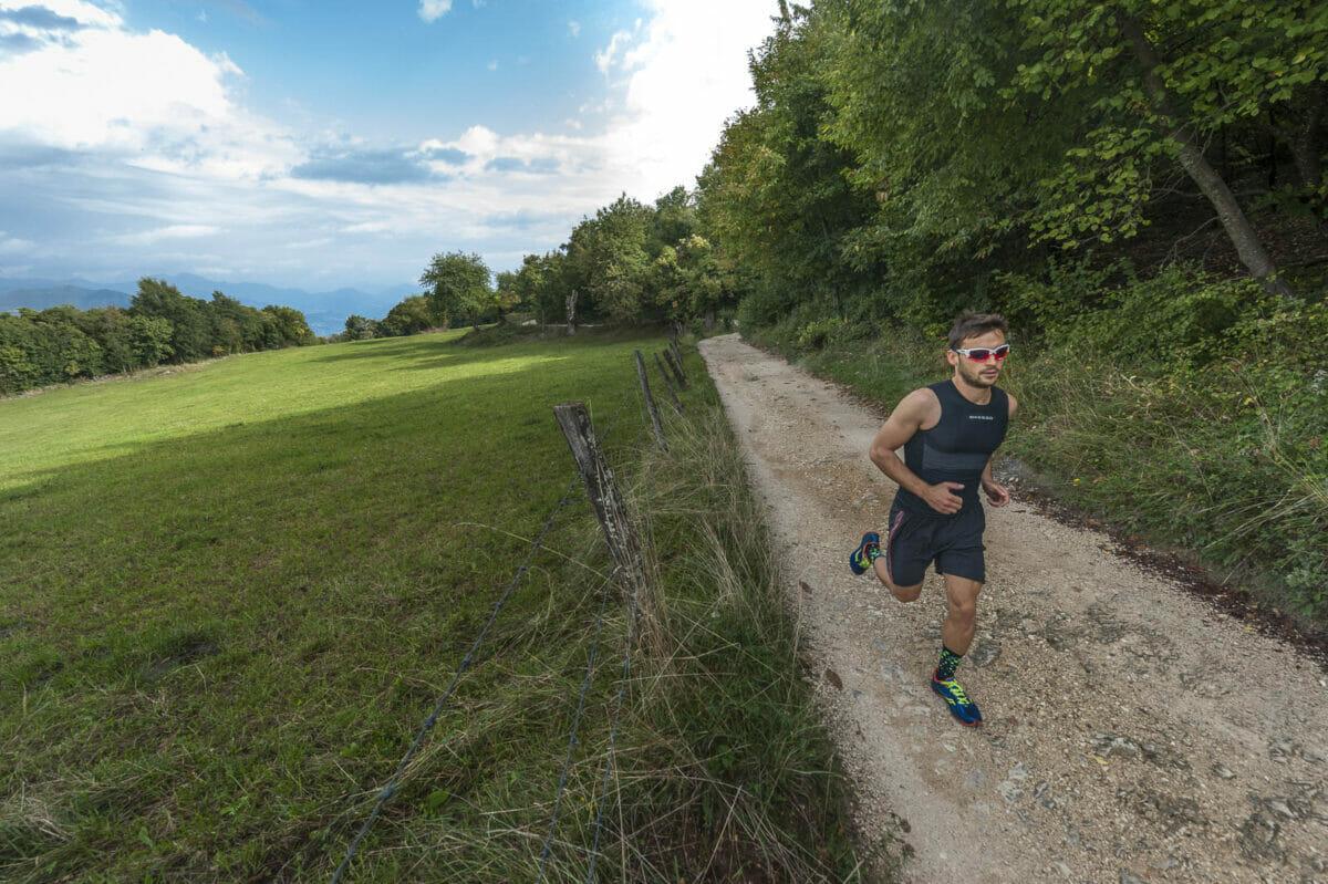runner along the trail
