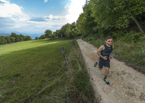 läufer auf dem weg