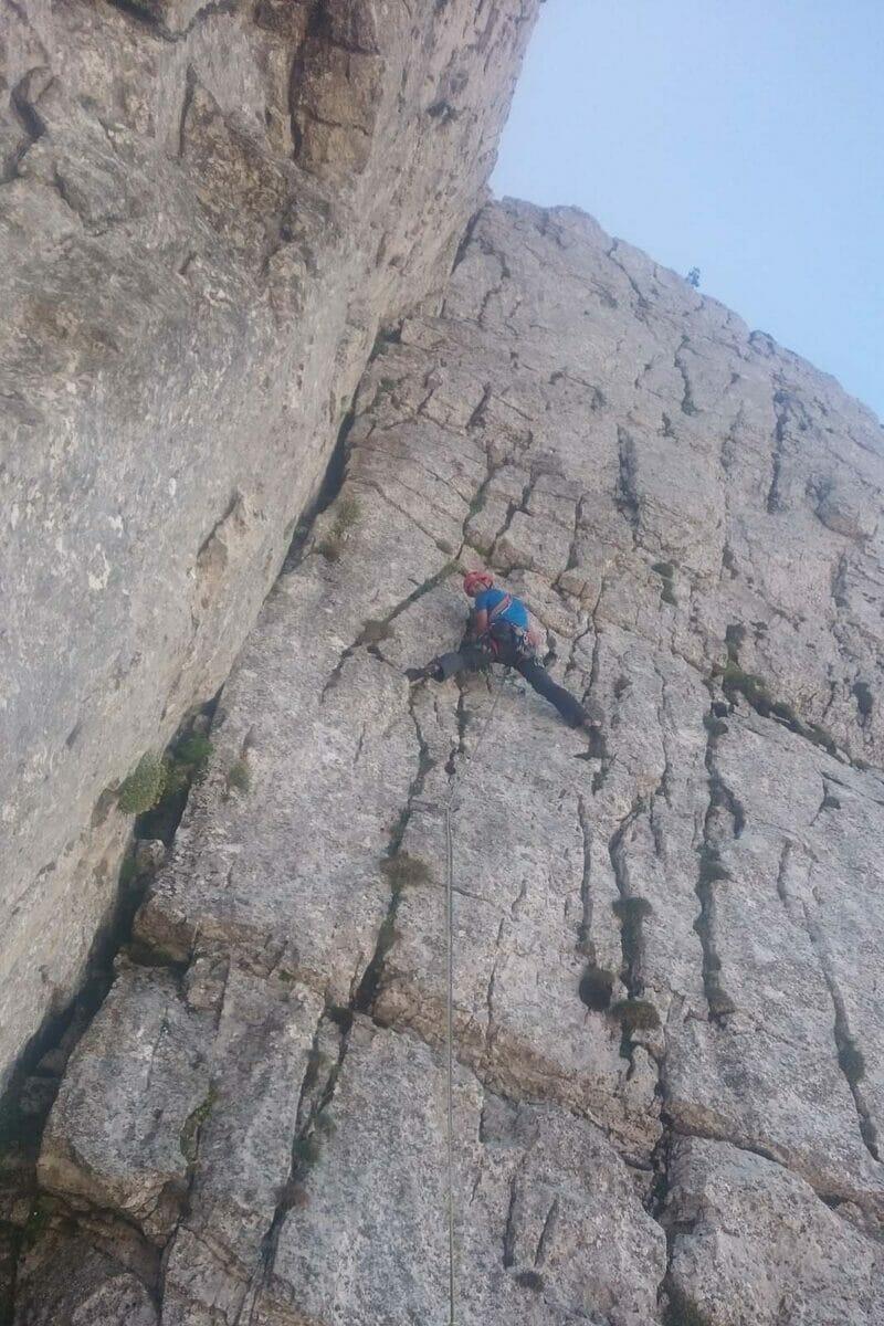 alpinista sulla molinaroli