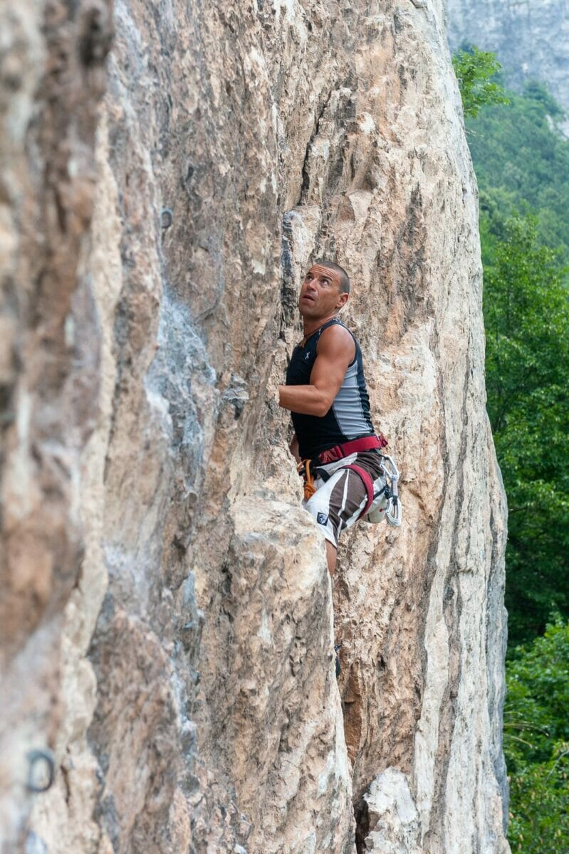 climber on the wall