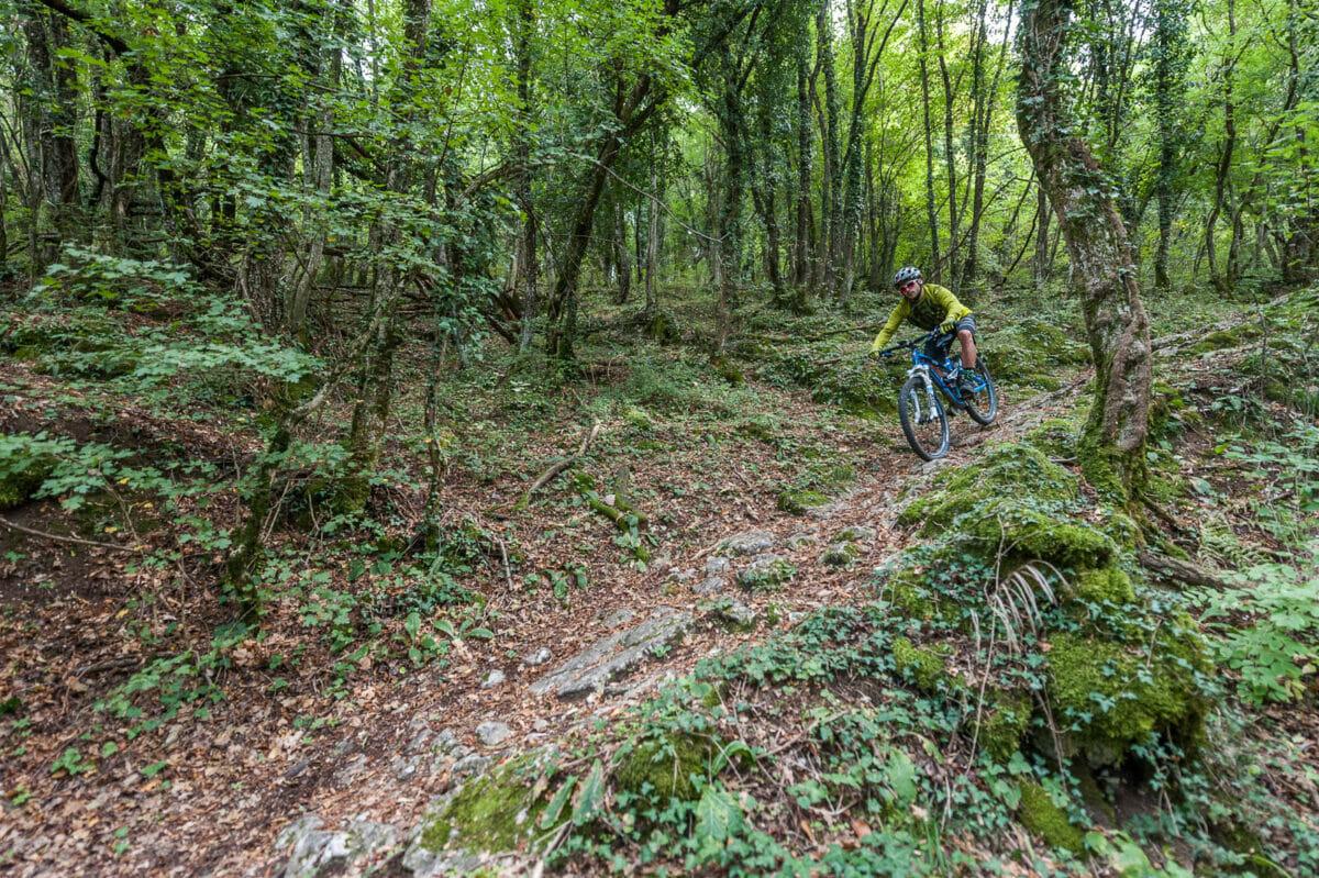 sentiero 654 in bici