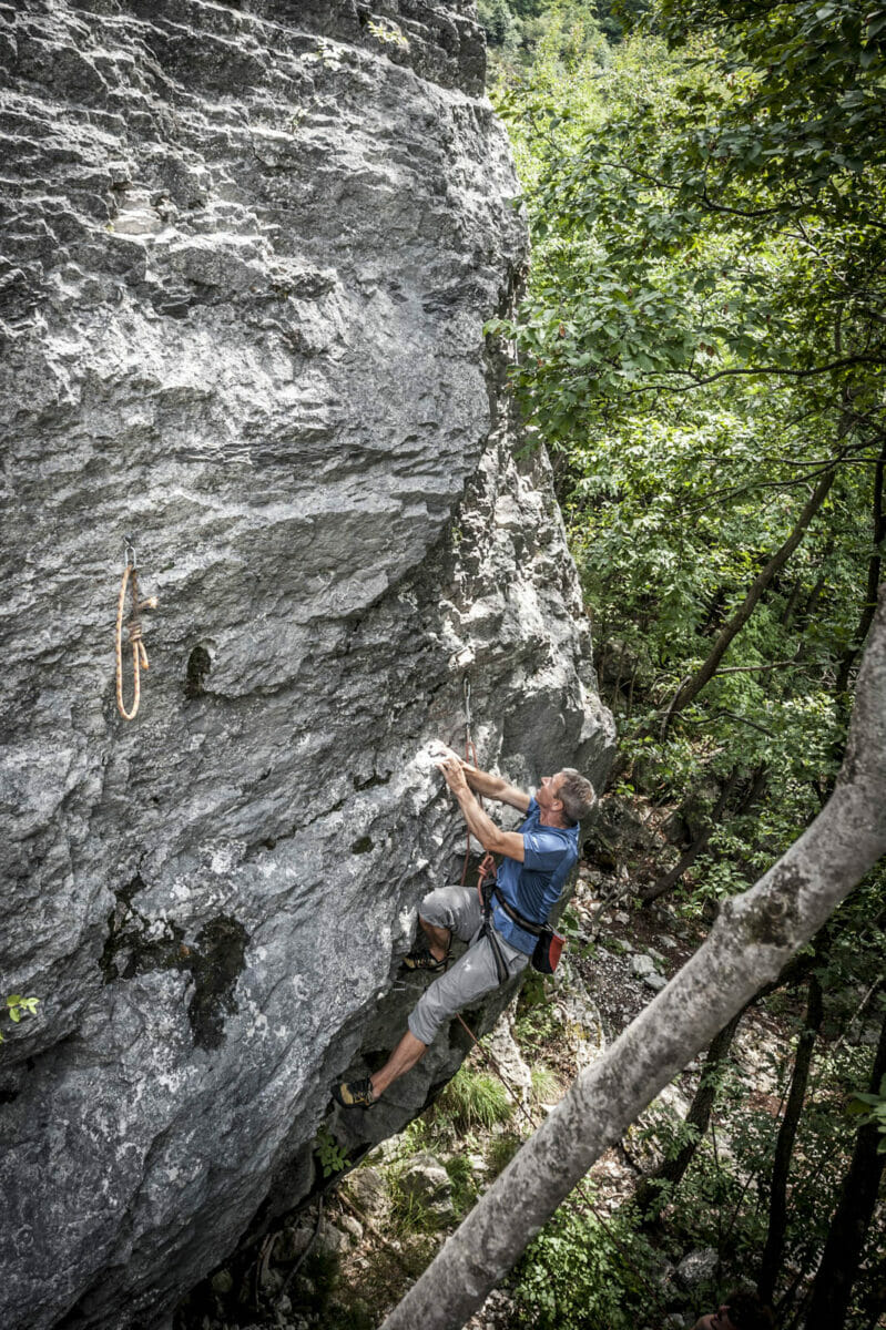 climber at the maroc of cassone