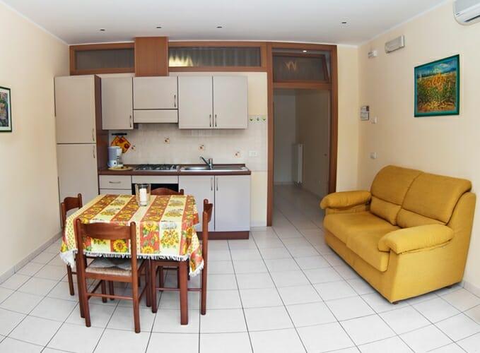 casa facchinetti küche/wohnzimmer