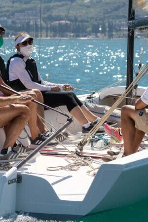 sail boat with crew