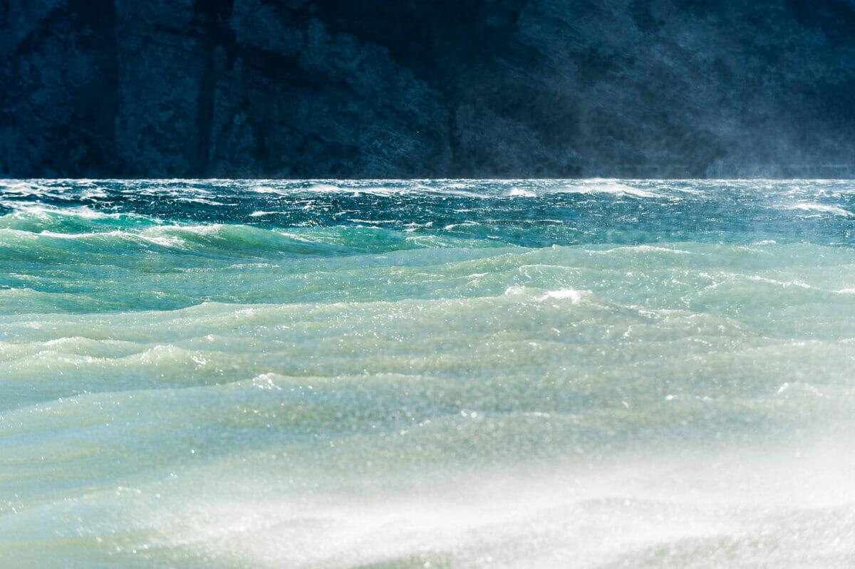 waves on lake garda