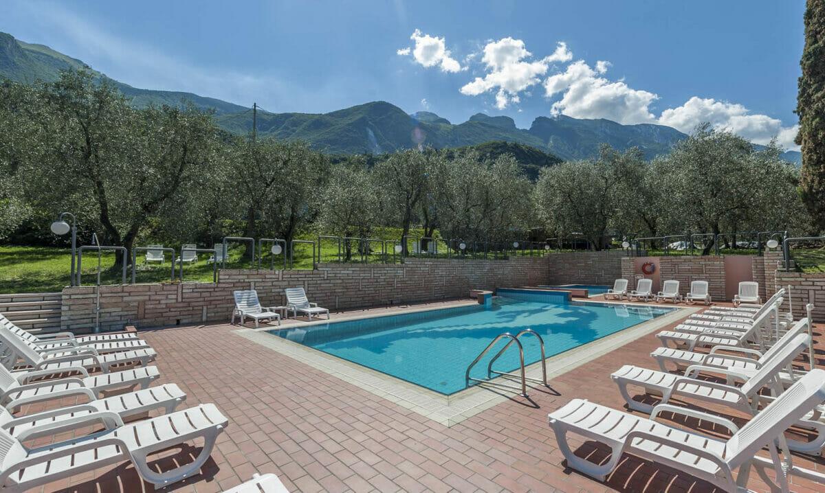 villa lara swimming pool and olive trees