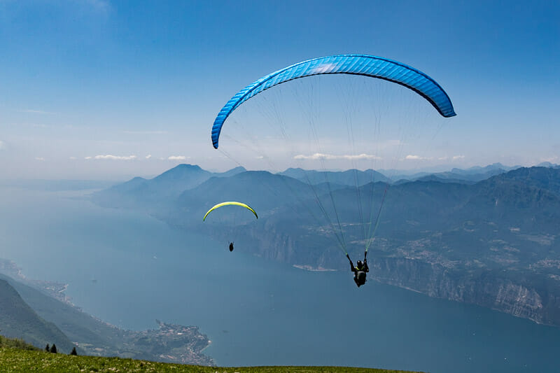 couple of paragliding