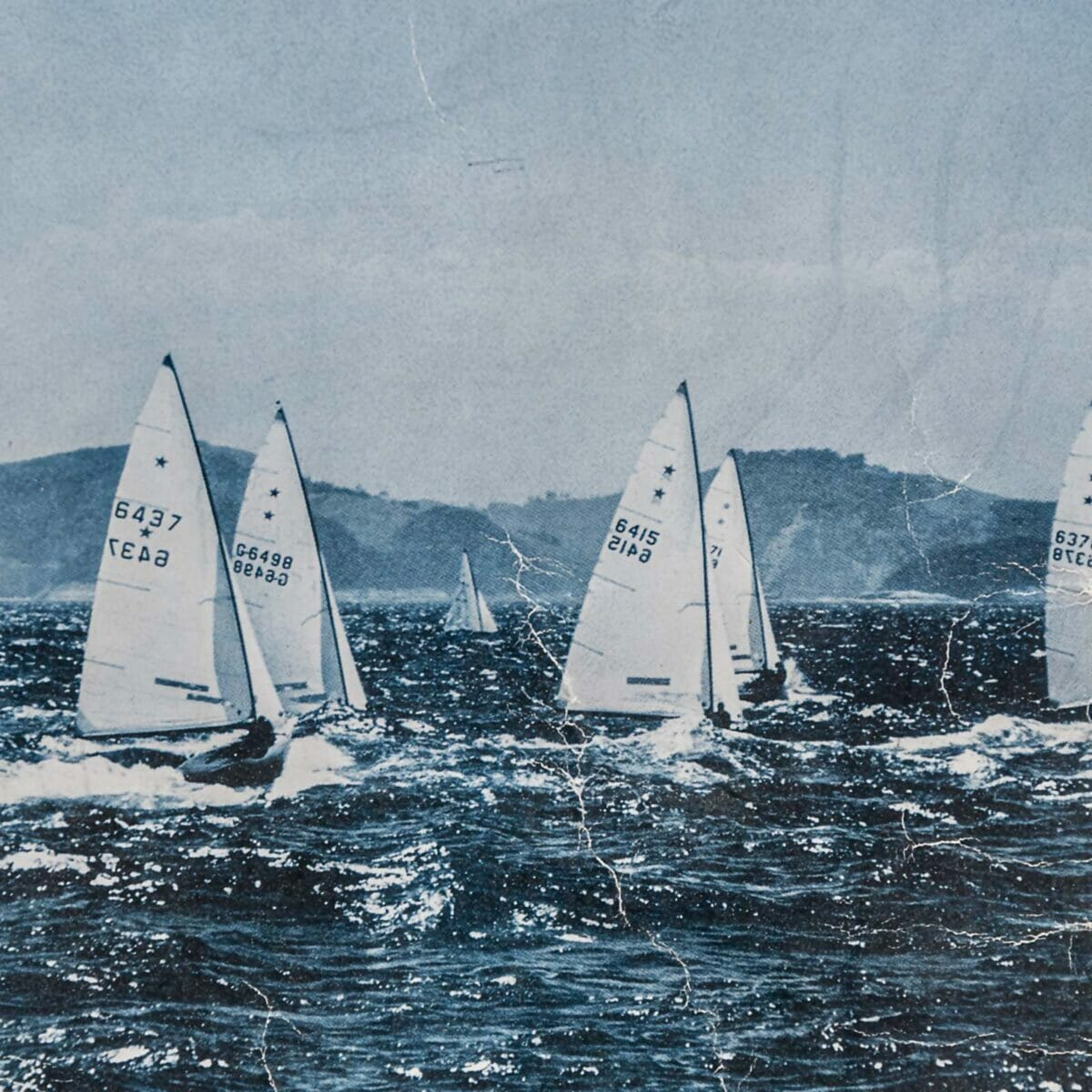 barche star durante una regata