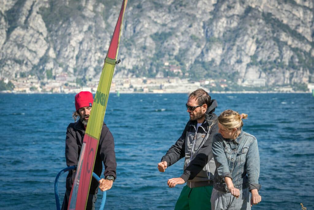 05 corso base di windsurf lago di garda virata 1024x683