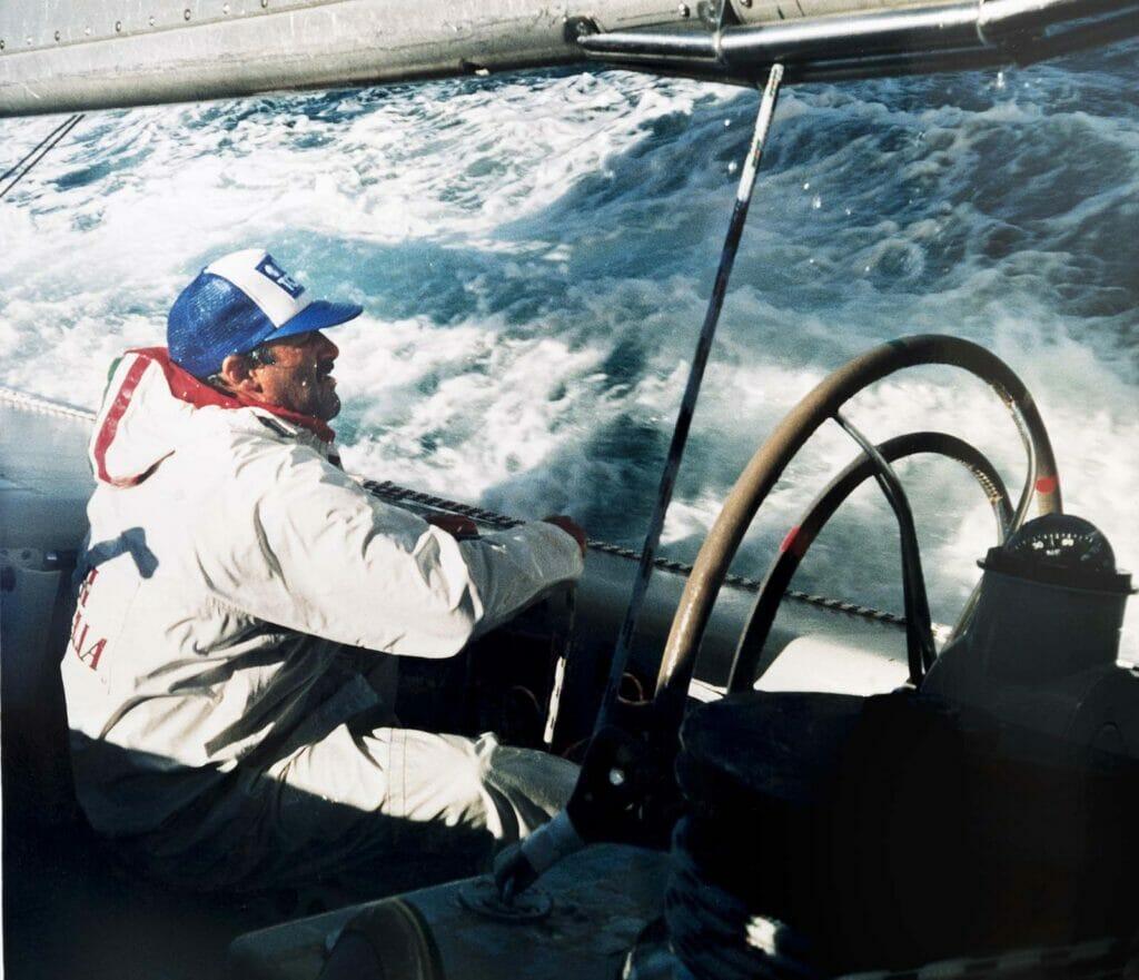 albino fravezzi in barca