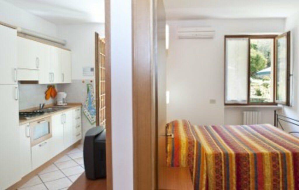casa facchinetti camera da letto e cucina