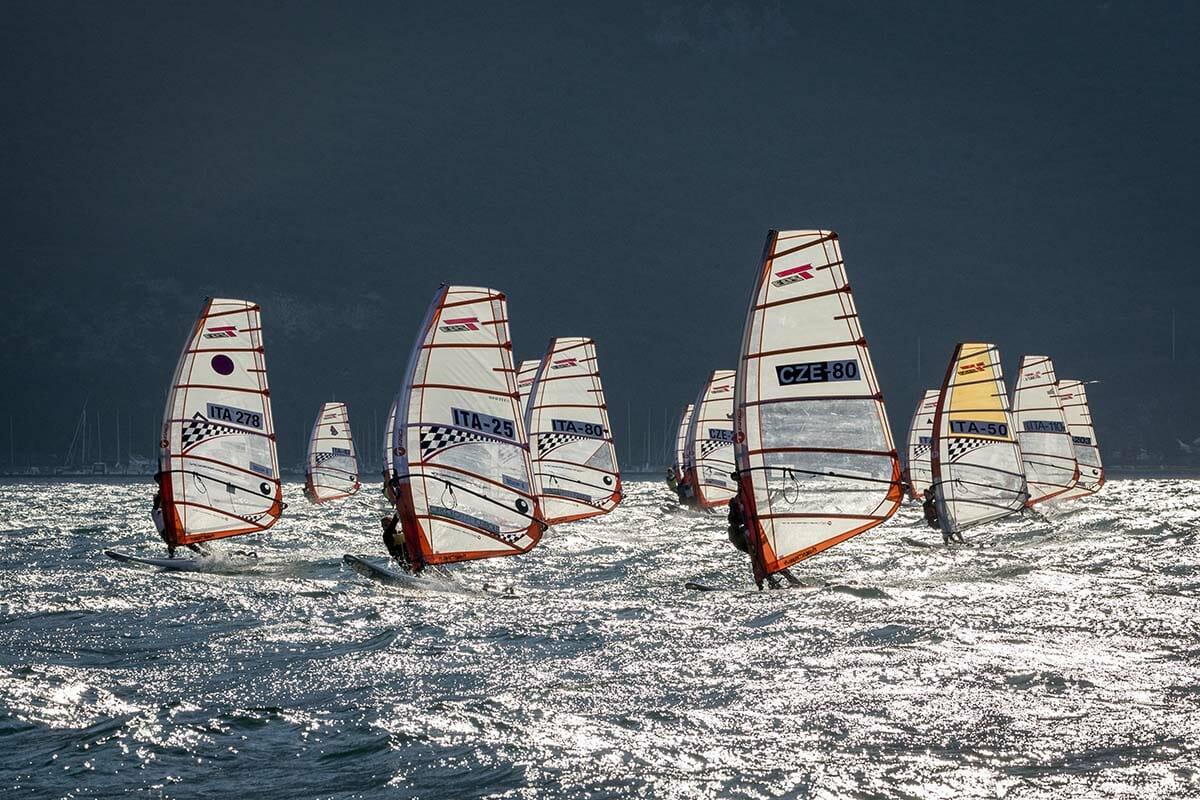 fraglia vela malcesine windsurf rennen