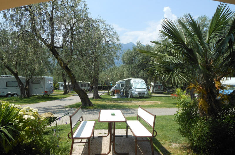 camping lombardi parking places among the olive trees