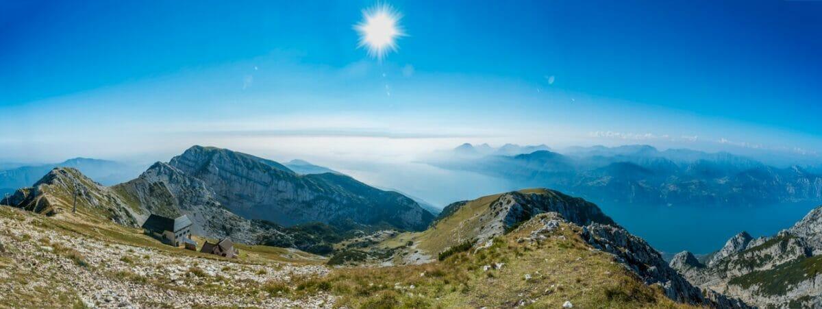 panoramic view over telegrafo and monte baldo