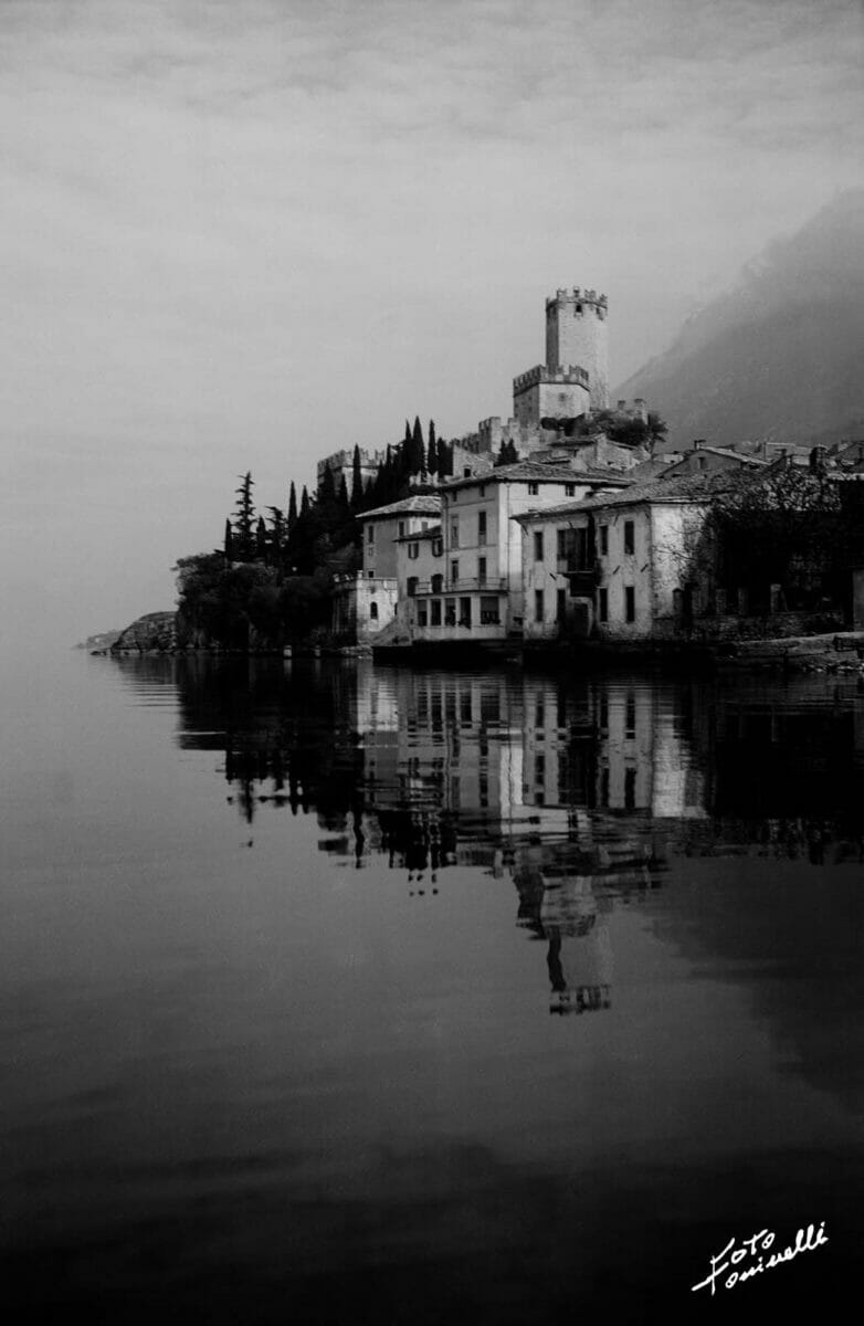 malcesine's castle viewed from the lake